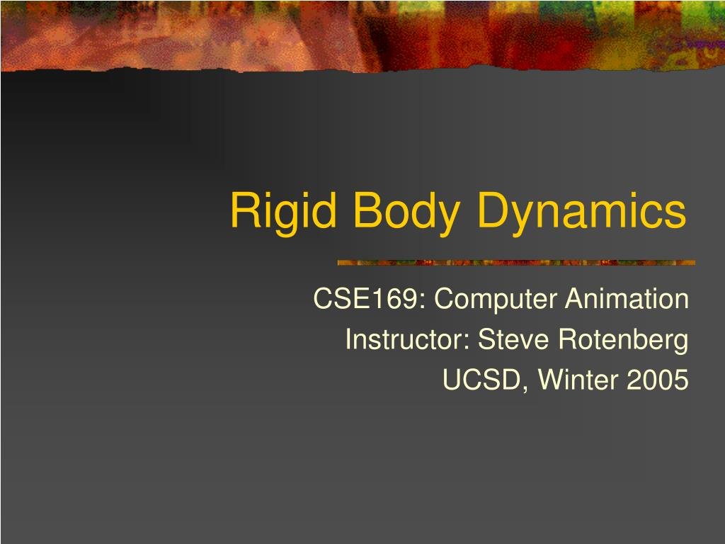 rigid body dynamics l.