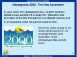 chesapeake 2000 the new agreement