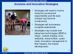 inclusive and innovative strategies