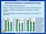 nutrient and sediment load reduction goals