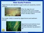 water quality problems