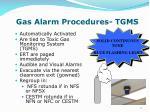 gas alarm procedures tgms