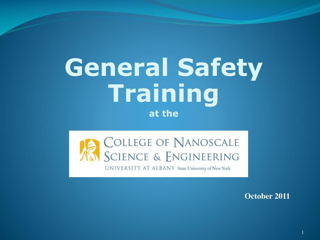 general safety training at the l.