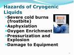 hazards of cryogenic liquids