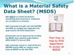 what is a material safety data sheet msds