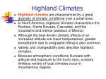 highland climates