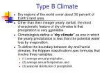type b climate