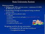 state university system