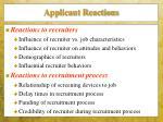 applicant reactions