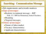 searching communication message