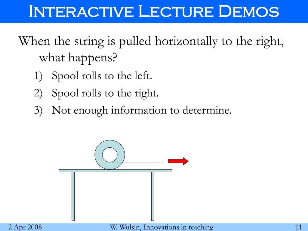Interactive Lecture Demos