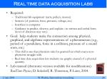 real time data acquisition labs