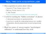 real time data acquisition labs25