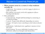 redish s cognitive principles