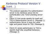 kerberos protocol version v cont