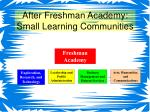 after freshman academy small learning communities