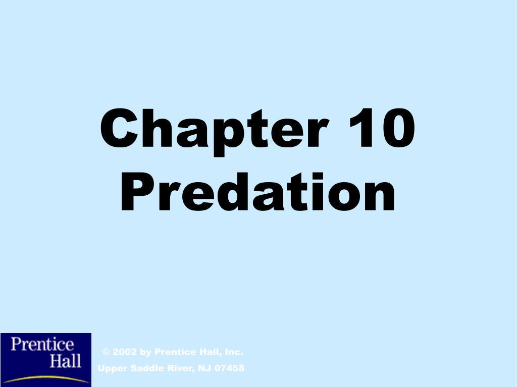 chapter 10 predation l.