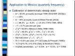 application to mexico quarterly frequency