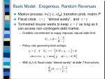 basic model exogenous random revenues
