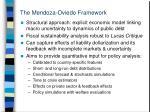 the mendoza oviedo framework