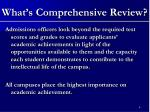 what s comprehensive review