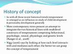 history of concept19