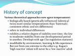 history of concept20