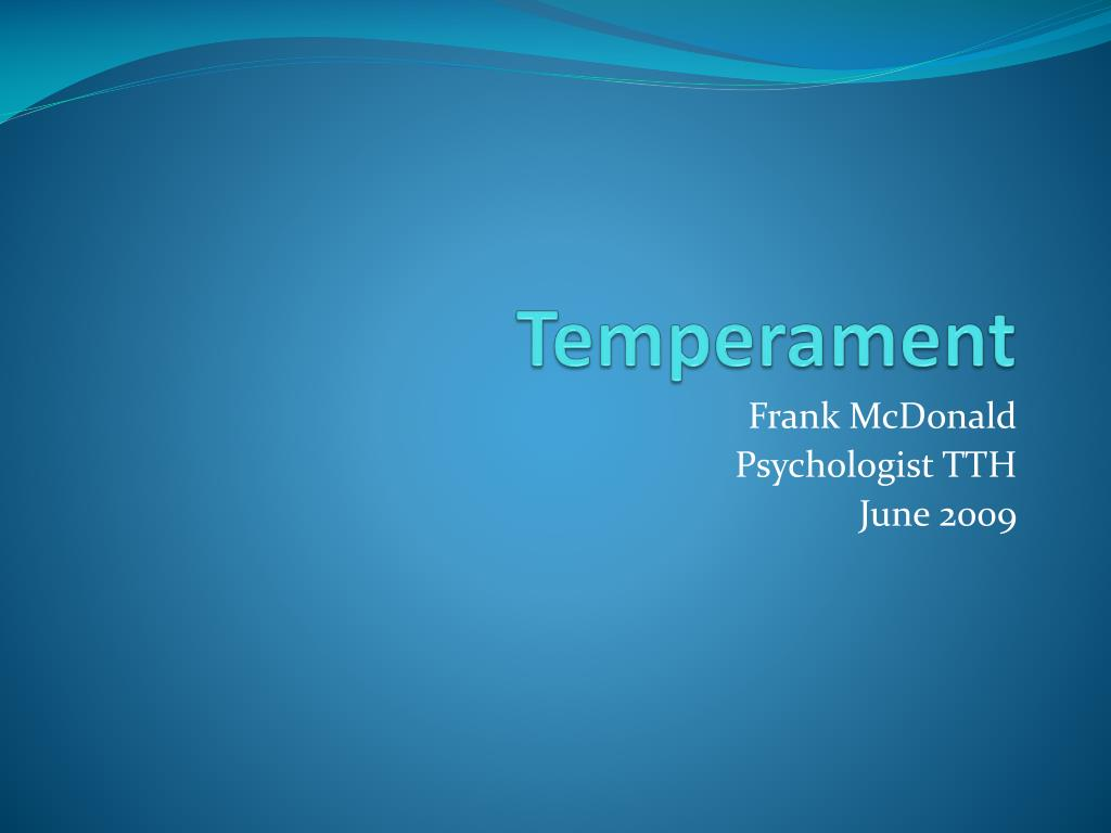 temperament l.