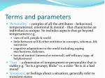 terms and parameters5