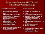 intermdiate band and jrotc in 9th with without world language