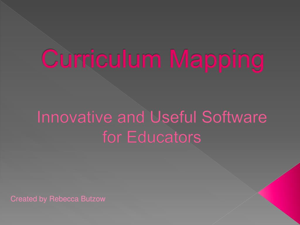 curriculum mapping l.