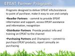 epeat partner programs