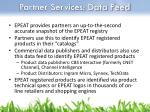 partner services data feed