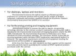 sample contract language