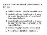 for us to see interference phenomena in a thin film