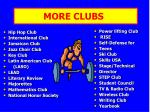 more clubs