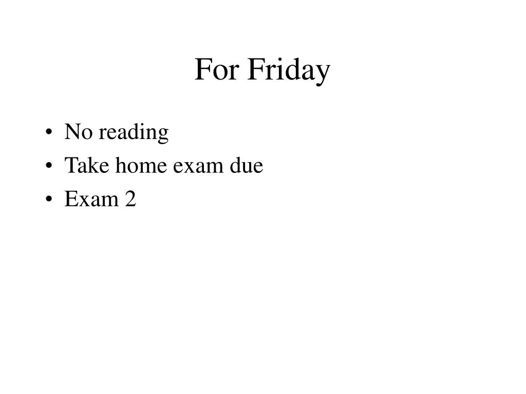 for friday l.