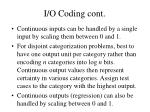 i o coding cont