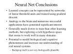 neural net conclusions
