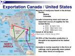 exportation canada united states
