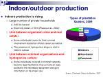indoor outdoor production