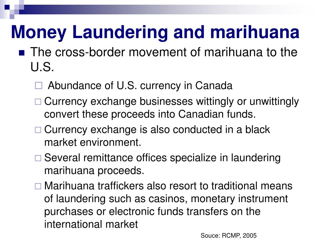 Money Laundering and marihuana