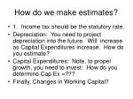 how do we make estimates