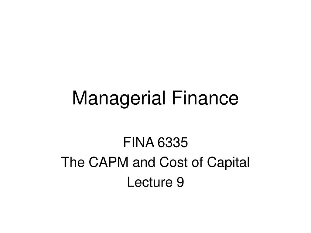 managerial finance l.