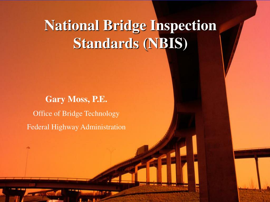 national bridge inspection standards nbis l.