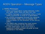 aodv operation message types