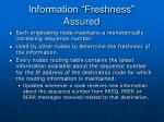 information freshness assured
