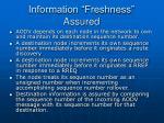 information freshness assured22