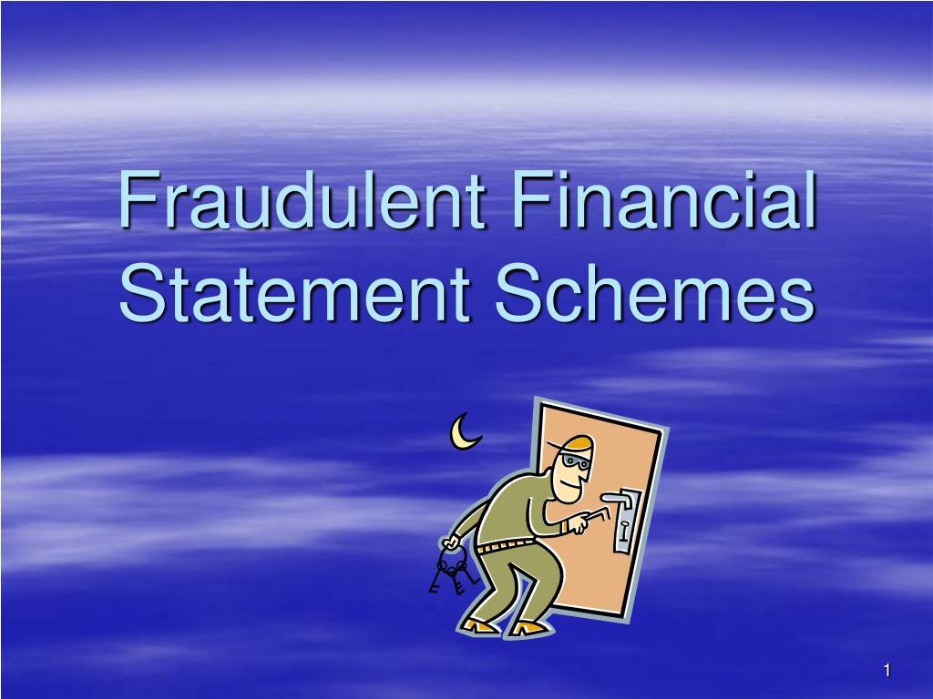 fraudulent financial statement schemes l.