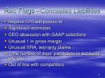 red flags concealed liabilities
